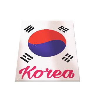 Toile Affiche vintage de voyage de la Corée du Sud