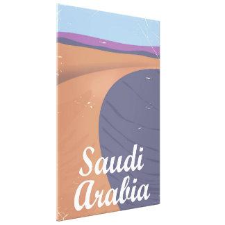 Toile Affiche vintage de voyage de l'Arabie Saoudite