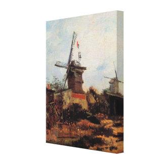 Toile Aileron de Van Gogh Le Moulin de Blute, moulin à