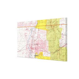 Toile Albuquerque Nouveau Mexique Map (1978)