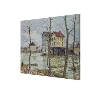 Toile Alfred Sisley | les moulins au Moret-sur-Loing