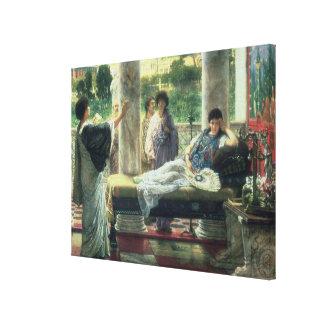 Toile Alma-Tadema   Catullus lisant ses poèmes