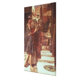 Toile Alma-Tadema   le départ, 1880
