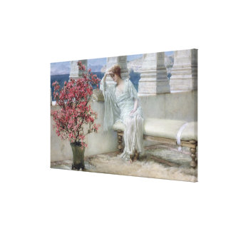Toile Alma-Tadema | ses yeux sont avec son thoughts�