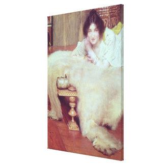 Toile Alma-Tadema | un auditeur : La couverture d'ours,