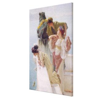 Toile Alma-Tadema | un Coign d'avantageux, 1895