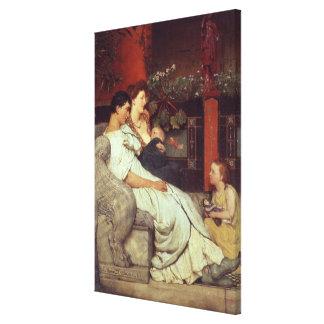 Toile Alma-Tadema | une famille romaine, 1867