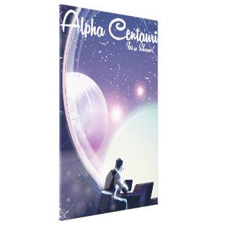 Toile Alpha Centurai, son une exposition, affiche de
