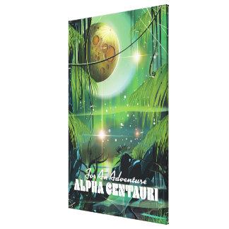 Toile Alpha rétro affiche centauri de la science fiction