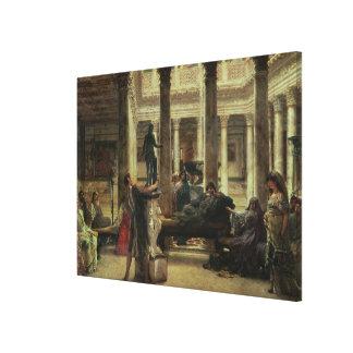 Toile Amant d'art romain d'Alma-Tadema  , 1870