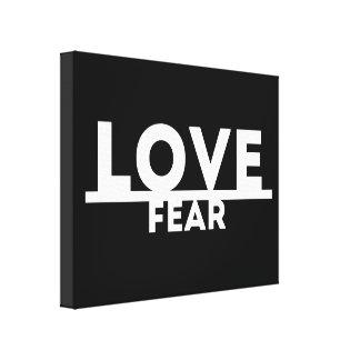 Toile Amour au-dessus de la crainte