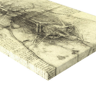 Toile Anatomie humaine, torse femelle par Leonardo da