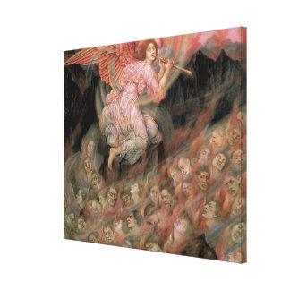 Toile Ange sifflant aux âmes dans l'enfer par Evelyn De