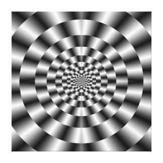 Toile Anneaux concentriques dans la copie monochrome de