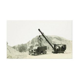 Toile Antiquité de cru de camion de chargement de grue