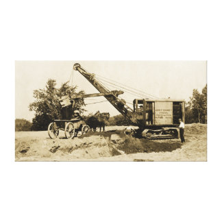 Toile Antiquité du nord-ouest d'équipement lourd de