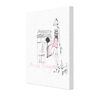 Toile Apple sauvage | Arc de Triomphe - croquis Girly