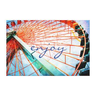 """Toile """"Appréciez"""" la photo géante de roue de Ferris de"""