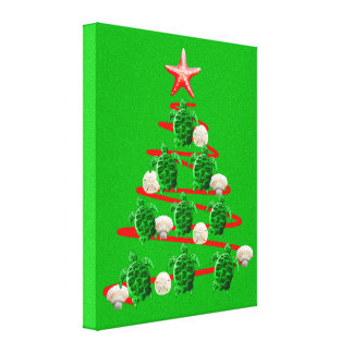Toile Arbre de Noël de tortues de mer verte