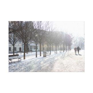 Toile Arbre d'hiver à Prague (République Tchèque)