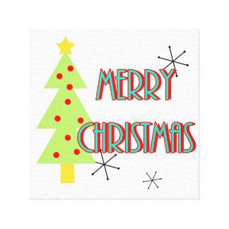 Toile arbre moderne de Joyeux Noël de la moitié du