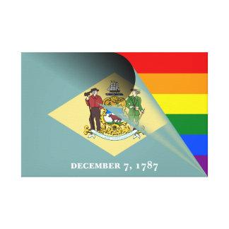 Toile Arc-en-ciel de gay pride de drapeau du Delaware