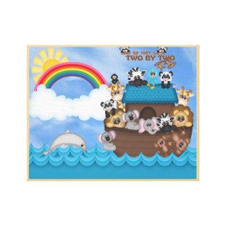 Toile Arche de Noahs d'animaux deux par la grande