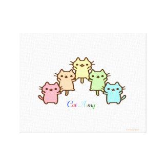 Toile armée de chat