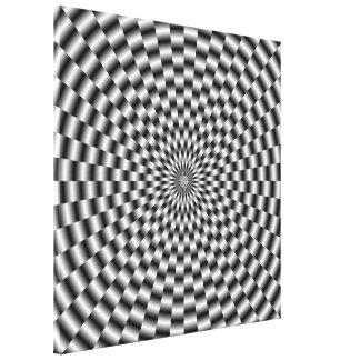 Toile Armure circulaire dans la copie monochrome de toil