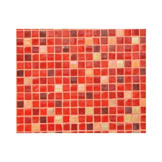 Toile Arrière - plan rouge de tuile de mosaïque