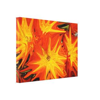 Toile Art abstrait liquéfié par orange de marguerites,