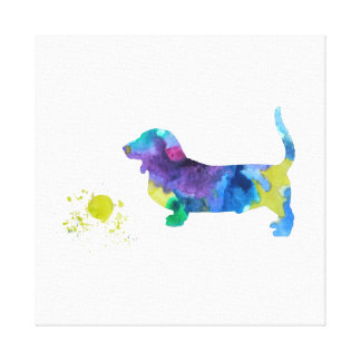 Toile Art de chien de basset