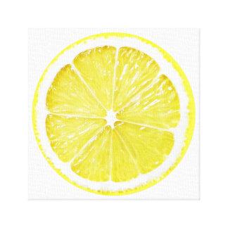 Toile Art de fruit de tranche de citron