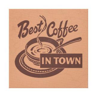 Toile Art de mur de café-restaurant