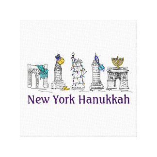 Toile Art de mur de vacances de New York Hanoukka NYC