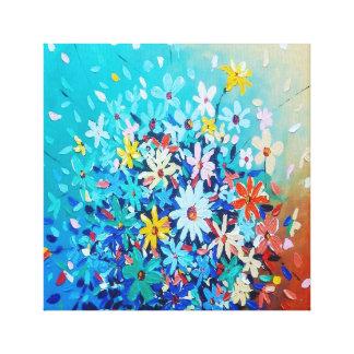 Toile art de pétales de fleur