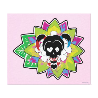Toile Art de tatouage de crâne du peloton | Harley Quinn