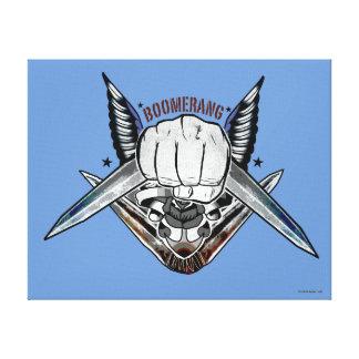 Toile Art de tatouage de poing de boomerang du peloton |