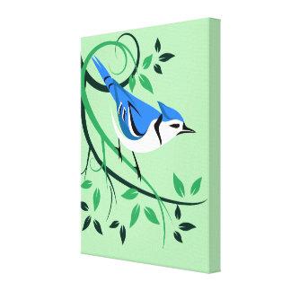 Toile Art décoratif de geai bleu