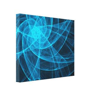 Toile Art d'ordinateur abstrait d'étoile de Tulles dans