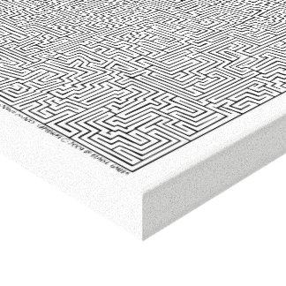 Toile Art maya de labyrinthe d'I par Blaise Gauba