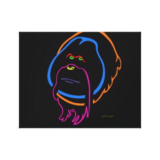 Toile Art minimal pour l'orang-outan de Sumatran
