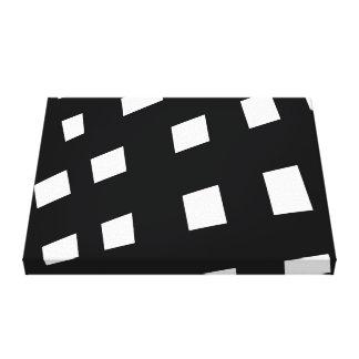 Toile Art minimaliste monochrome noir et blanc