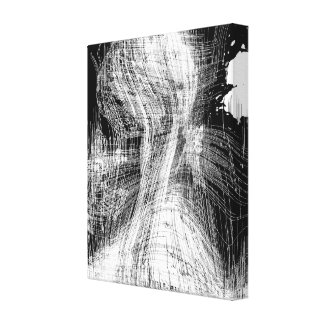 Toile Art noir et blanc d'expressionisme abstrait de