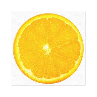 Toile Art orange de fruit de tranche