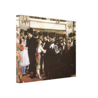 Toile Art vintage, boule masquée à l'opéra par Manet
