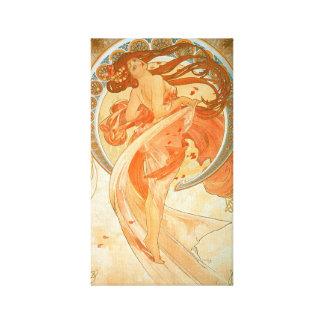 """Toile Art vintage Nouveau de """"danse"""" - Alphonse Mucha -"""