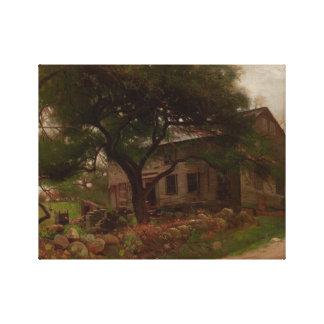 Toile Arthur Parton - vieille Chambre de ferme dans le