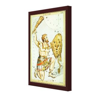 Toile Astronomie céleste vintage, constellation d'Orion