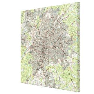 Toile Atlanta la Géorgie Map (1981)